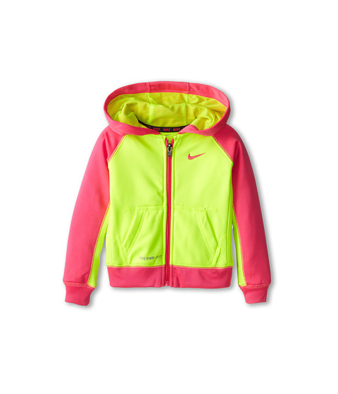 Nike Kids - KO Full-Zip Hoodie (Toddler) (Volt) Girl