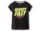 Nike Kids Always Fast Tee (Little Kids) (Black)