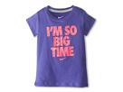 Nike Kids I'm So Big Time Tee (Little Kids) (Purple Haze)