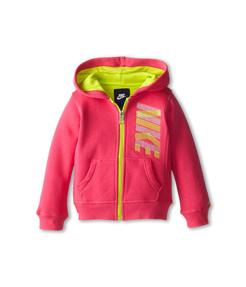 Nike Kids - Nike Full Zip Hoodie (Toddler) (Dark Hyper Pink) Girl's Sweatshirt