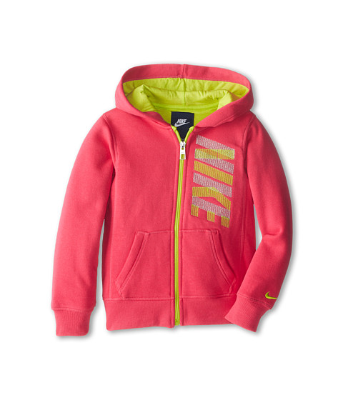 Nike Kids - Nike Full Zip Hoodie (Little Kids) (Dark Hyper Pink) Girl's Sweatshirt