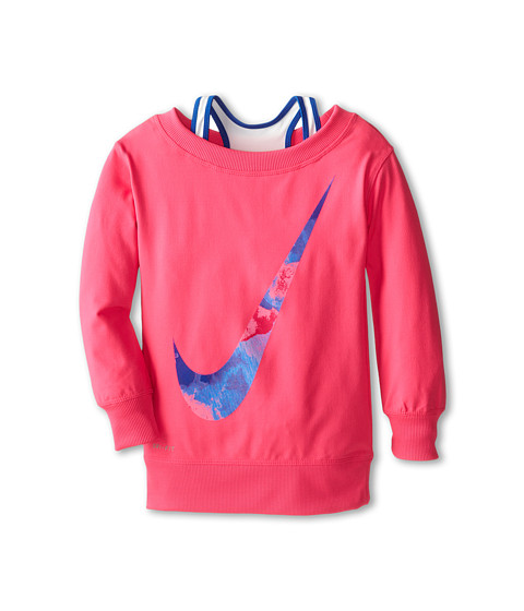 Nike Kids - Dri Fit Sport Essentials Boat Neck Cover-Up (Little Kids) (Hyper Pink) Girl