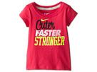 Nike Kids Cuter Faster Stronger Tee (Toddler) (Dark Hyper Pink)