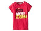 Nike Kids Cuter Faster Stronger Tee (Little Kids) (Dark Hyper Pink)