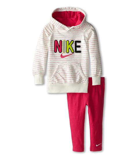 Nike Kids - Ruched Polka Square Printed Legging Set (Toddler) (Dark Hyper Pink) Girl