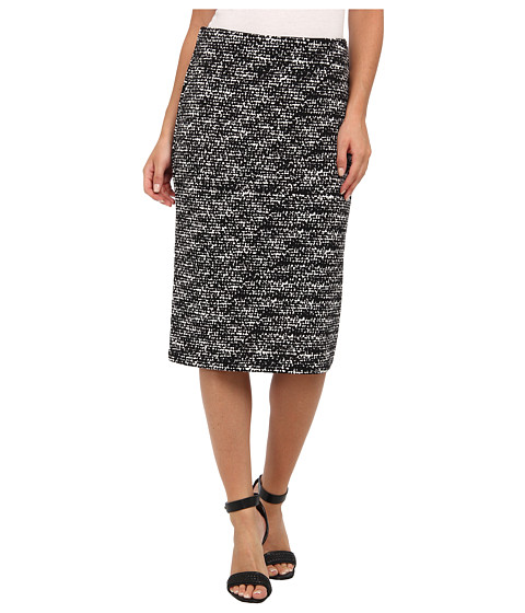 Vince Camuto - Graphic Flutter Midi Tube Skirt (Rich Black) Women's Skirt