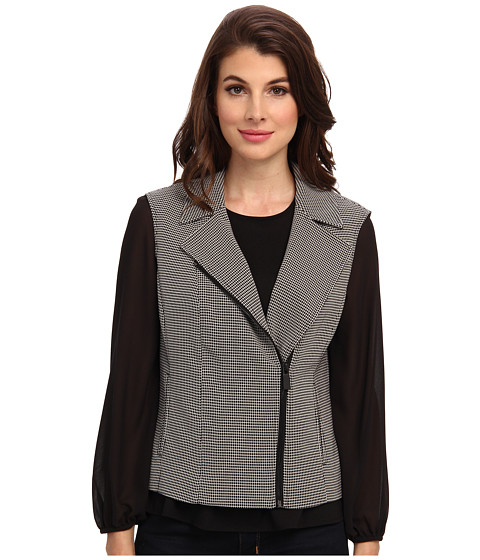 Vince Camuto - Side Zip Moto Vest (Rich Black) Women