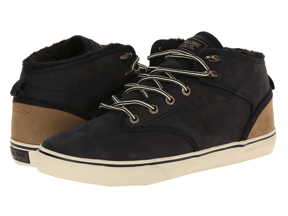 Globe - Motley Mid (Black/Golden Brown Fur) Men's Skate Shoes