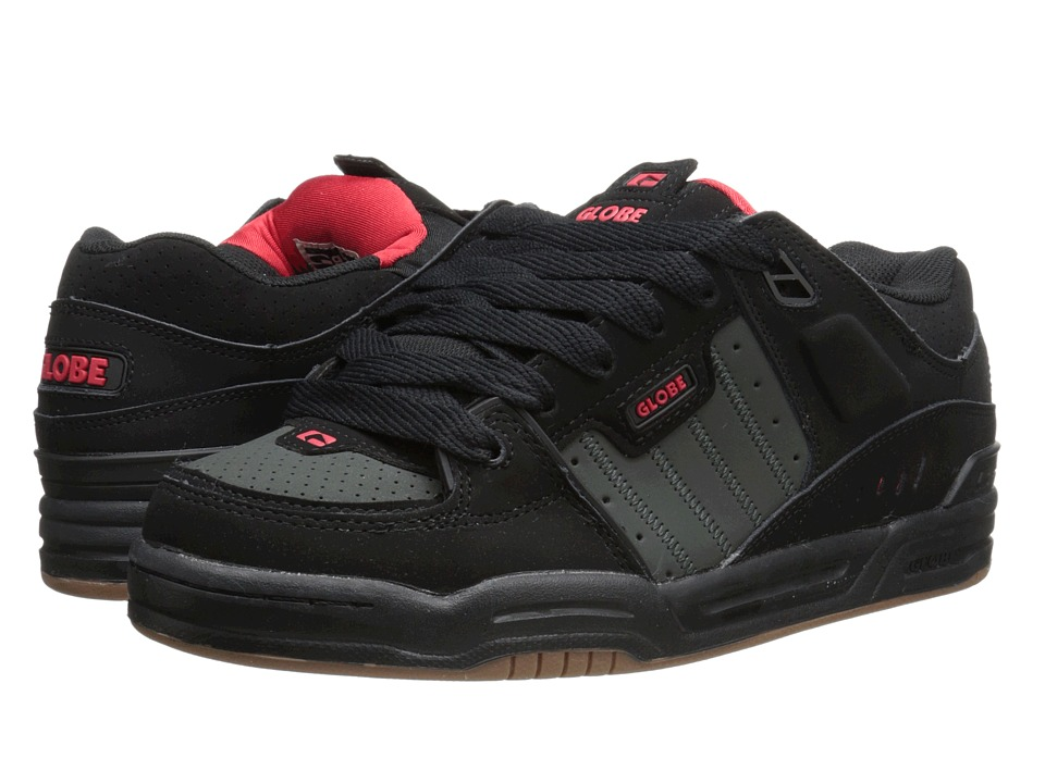 Globe - Fusion (Black/Red/Night) Men's Skate Shoes