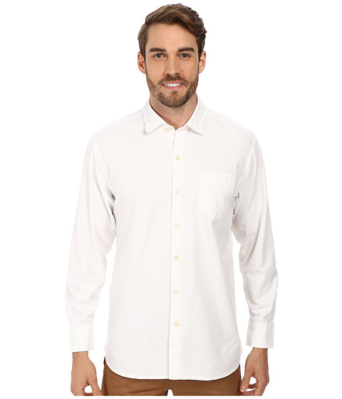 Tommy Bahama - Island Twill L/S Button Up (Bright White) Men's Long Sleeve Button Up