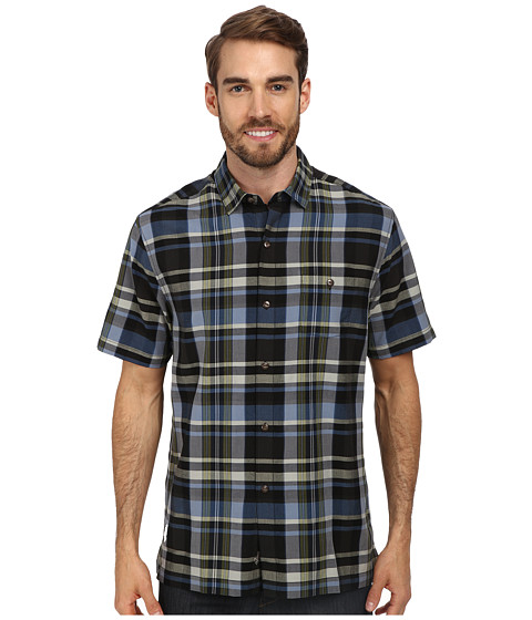 Tommy Bahama - Moab Plaid S/S Button Up (Black) Men's Short Sleeve Button Up