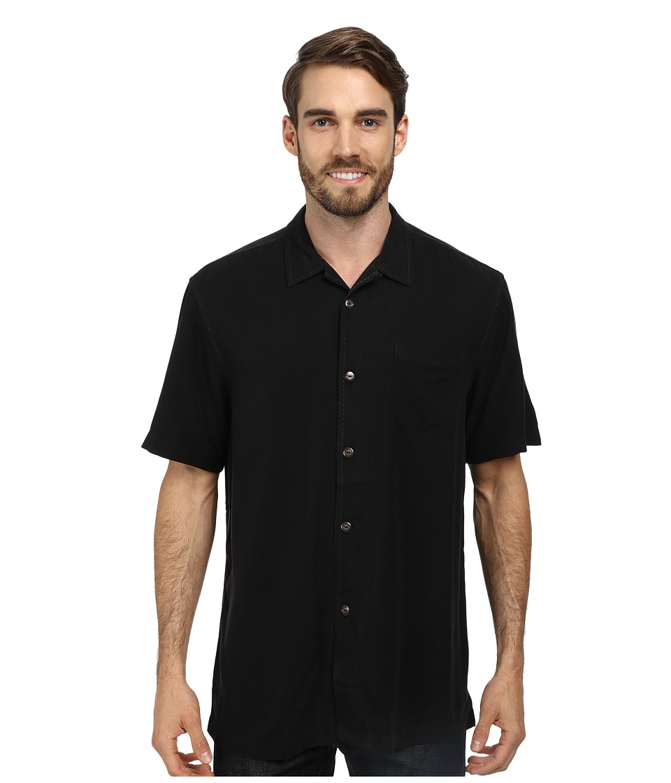 Tommy Bahama - Island Modern Fit Hamilton S/S Camp Shirt (Black) Men's Short Sleeve Button Up