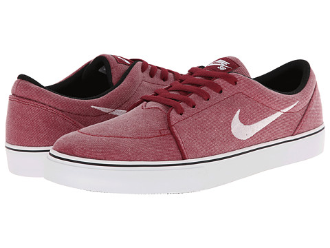 Nike SB - Satire Canvas (Team Red/Black/White) Men's Skate Shoes