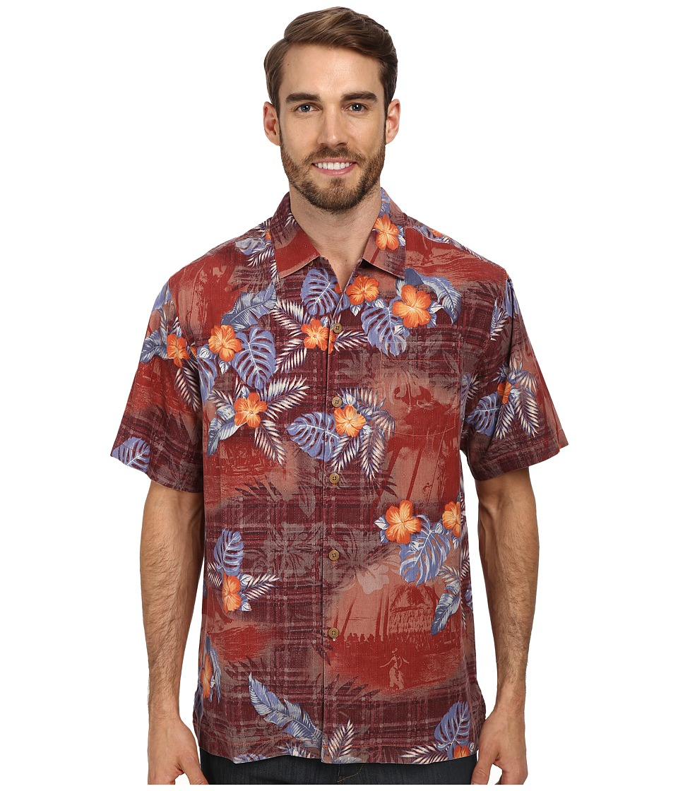 Tommy Bahama - Beach Mode S/S Button Up (Syrah) Men's Short Sleeve Button Up