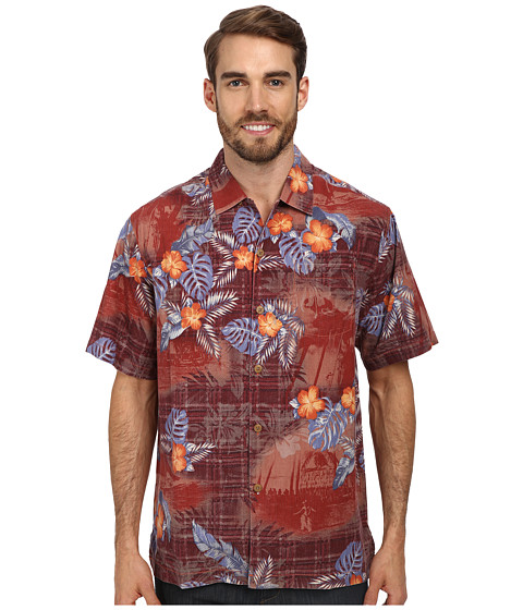 Tommy Bahama - Beach Mode S/S Button Up (Syrah) Men