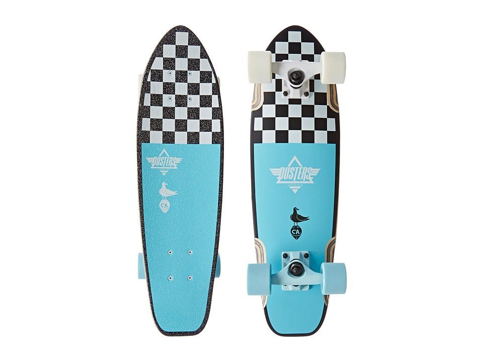 Dusters - Bird (Checker (Blue)) Skateboards Sports Equipment