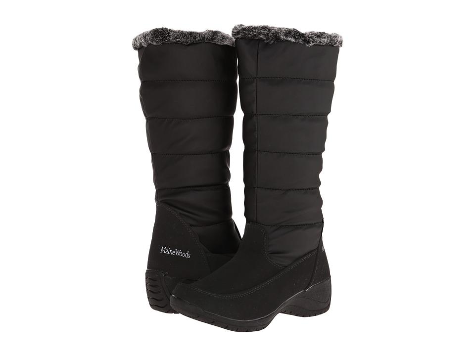Maine Woods - Elana (Black) Women's Zip Boots