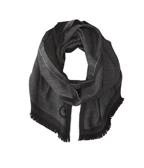 Givenchy - Jacquard Wool Scarf (Charcoal) Scarves