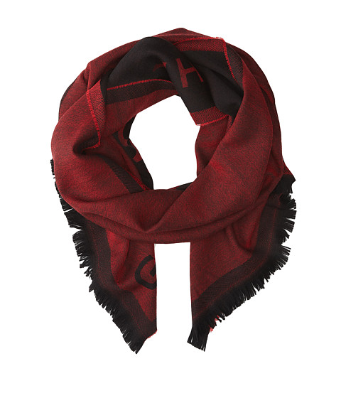 Givenchy - Jacquard Wool Scarf (Red) Scarves