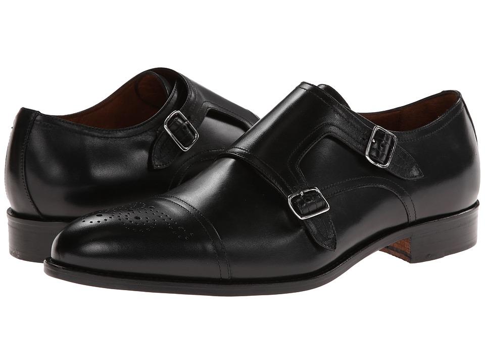 Massimo Matteo - Double Monk Cap Toe (Black) Men's Monkstrap Shoes