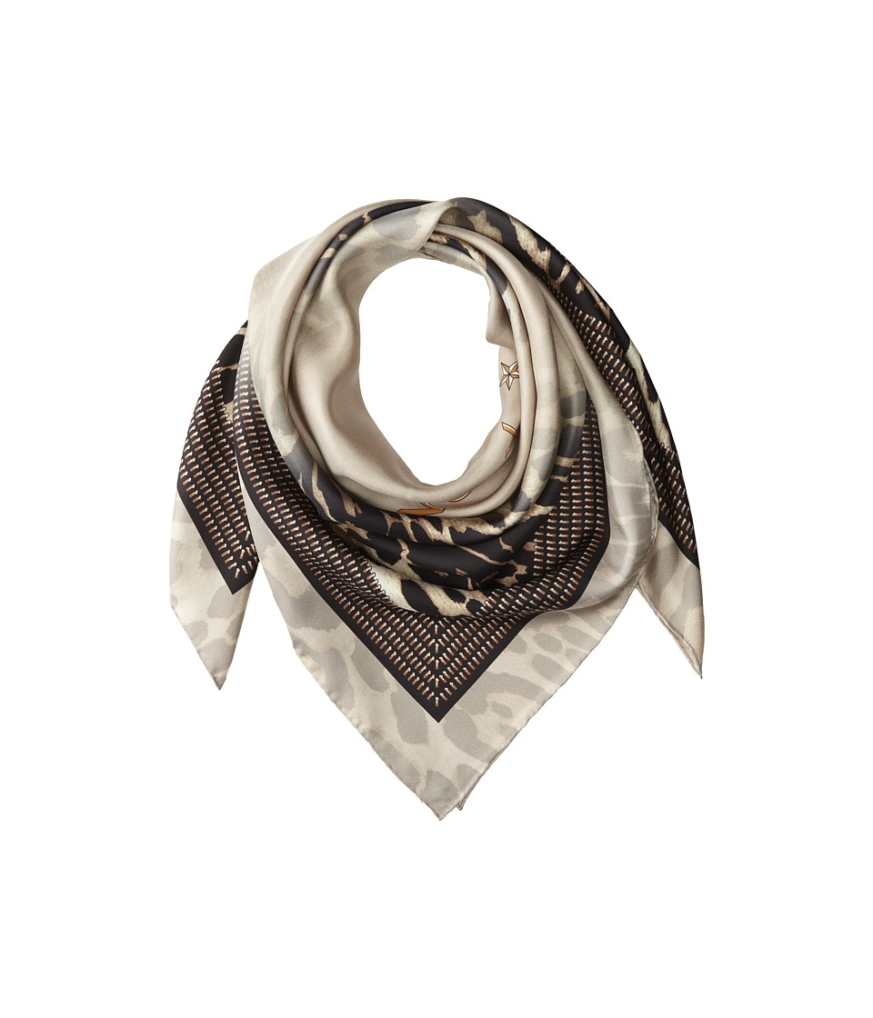 Givenchy - Shaded Leopard Silk Twill Scarf (Sand) Scarves