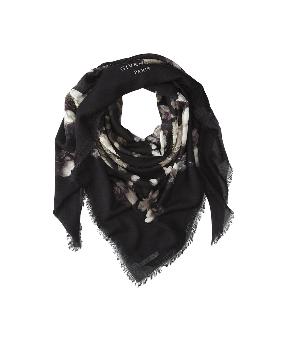 Givenchy - Flower Bouquet Wool Scarf (Ivory) Scarves