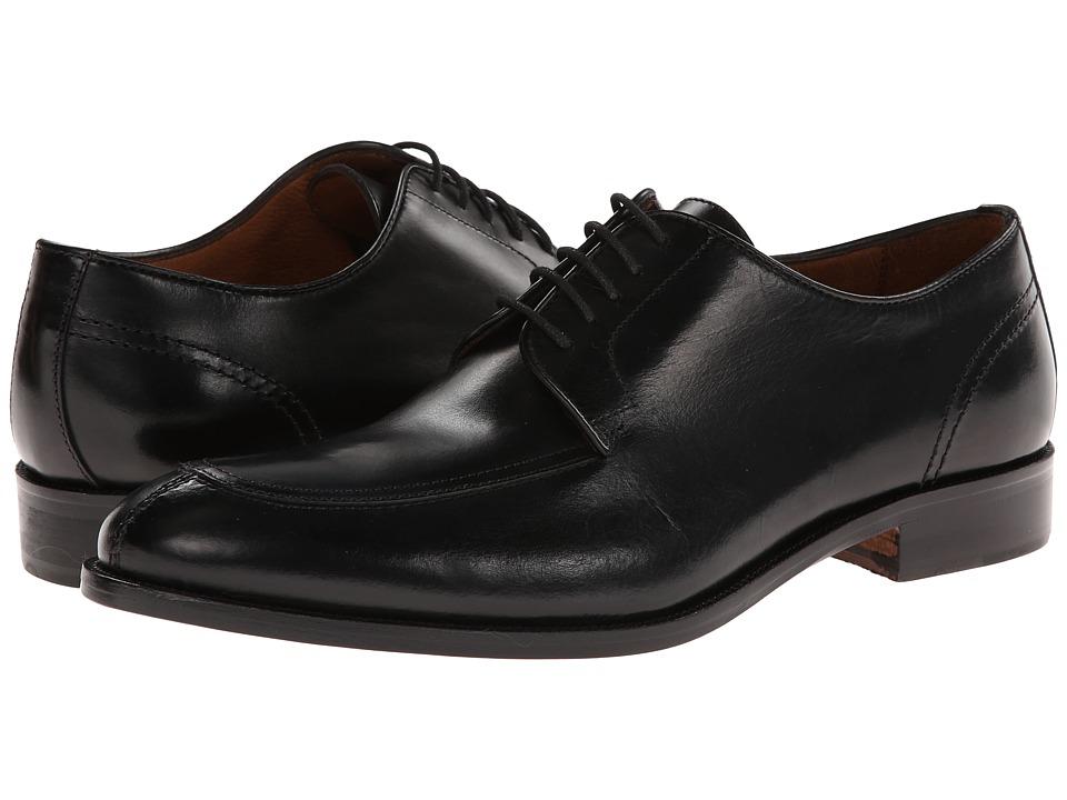 Massimo Matteo 5-Eye Mocc Toe (Black) Men's Lace up casual Shoes