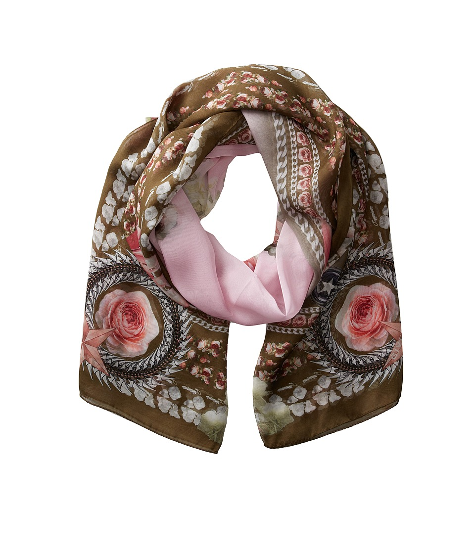 Givenchy - Paradise Flowers Silk Chiffon Scarf (Baby Pink) Scarves