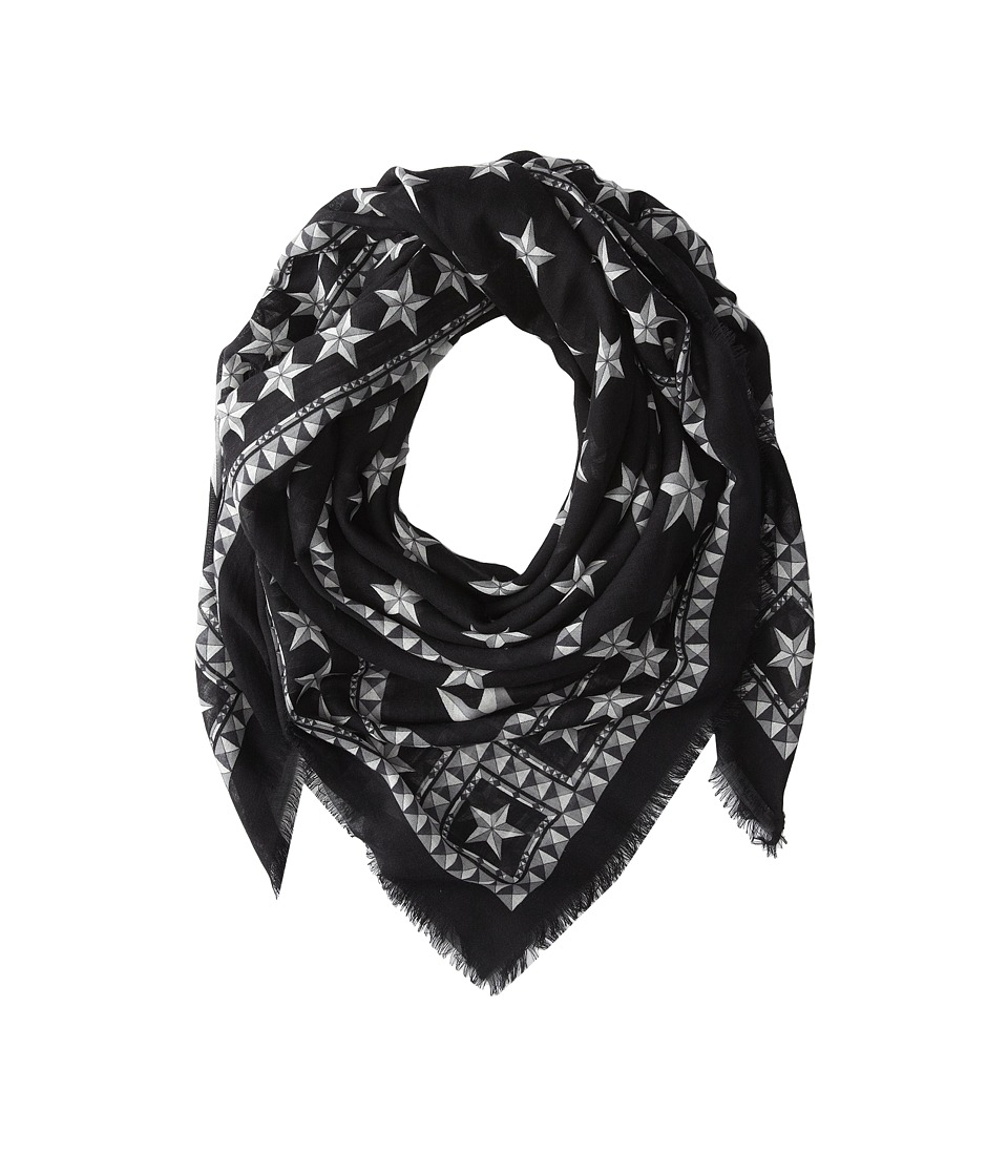 Givenchy - Stars Wool Scarf (Black/Silver) Scarves