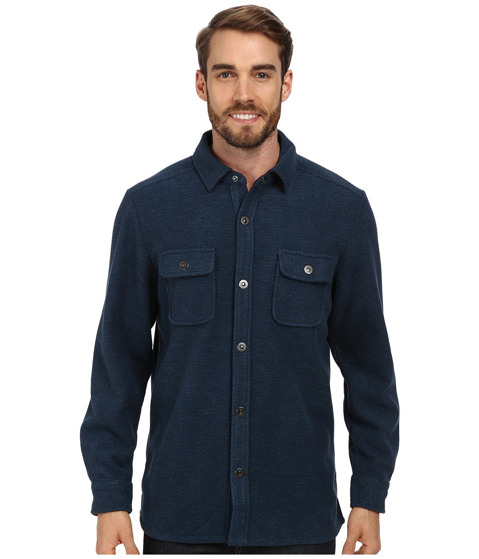 Tommy Bahama - Twill Murray CPO (Neptune) Men's Long Sleeve Button Up