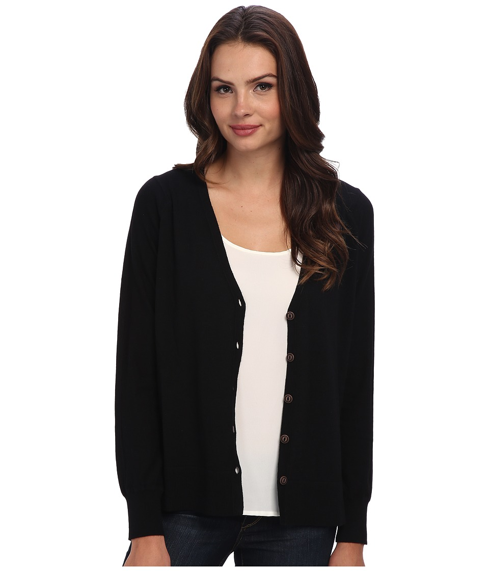 Brigitte Bailey - Bethany Merino High Low Cardigan (Black) Women's Sweater
