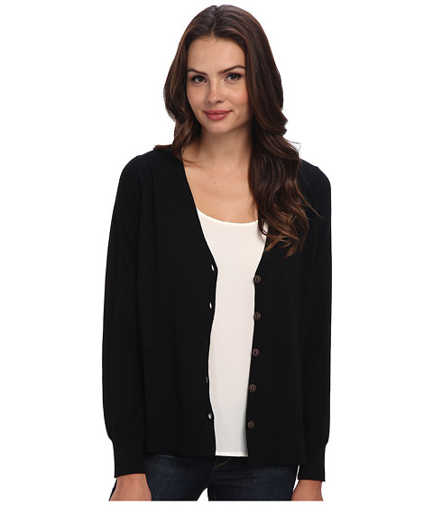 Brigitte Bailey - Bethany Merino High Low Cardigan (Black) Women