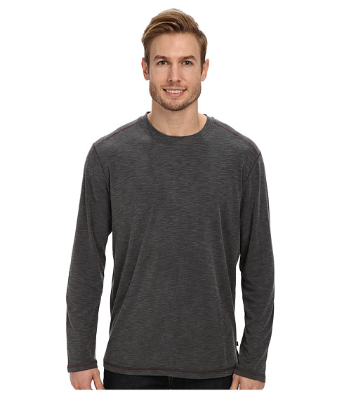 Tommy Bahama - Paradise Around L/S Tee (Black) Men's Clothing