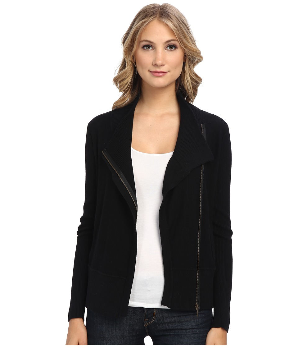Brigitte Bailey - Shannon Merino Zip Jacket (Black) Women's Jacket