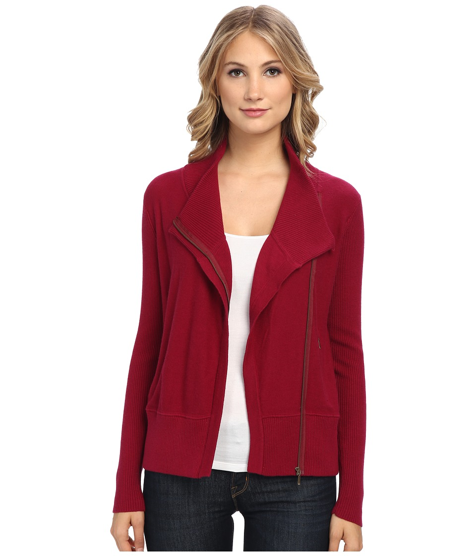 Brigitte Bailey - Shannon Merino Zip Jacket (Chili) Women's Jacket