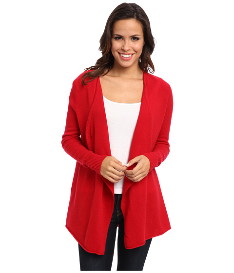Christin Michaels - 100% Cashmere Laura Cardigan (Red) Women
