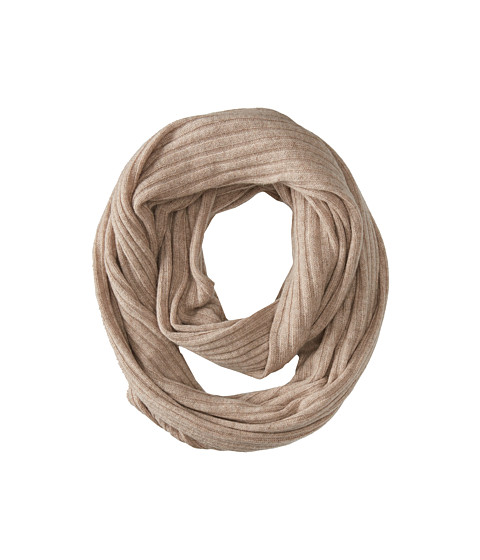 Brigitte Bailey - Diana Ribbed Cashmere Infinity Scarf (Oatmeal) Scarves