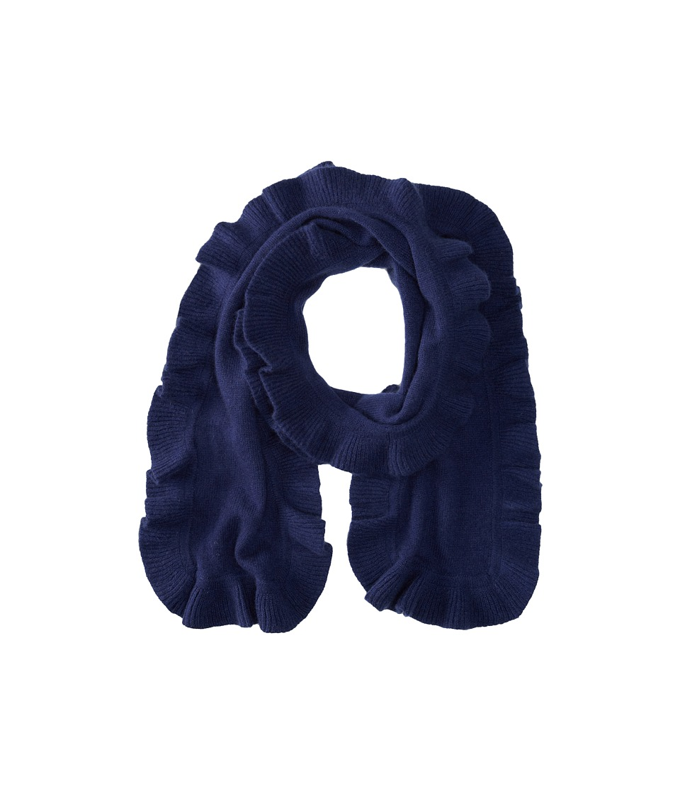 Brigitte Bailey - Diana Ruffle Cashmere Scarf (Navy) Scarves