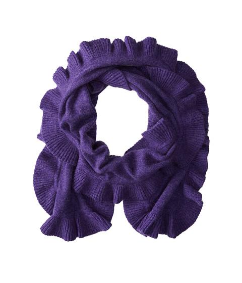 Brigitte Bailey - Diana Ruffle Cashmere Scarf (Purple) Scarves