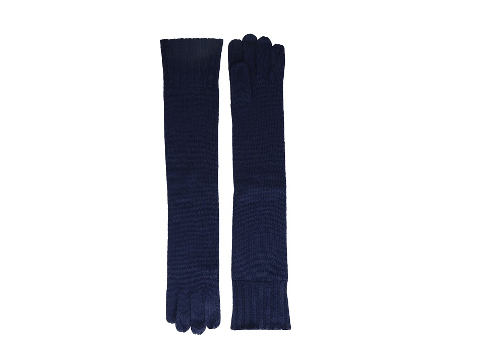 Brigitte Bailey - Diana Cashmere Long Gloves (Navy) Dress Gloves