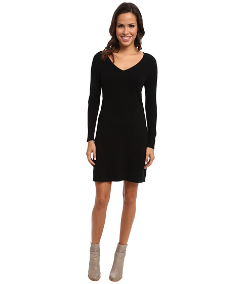 Christin Michaels - 100% Cashmere Brooke Shift Dress (Black) Women's Dress
