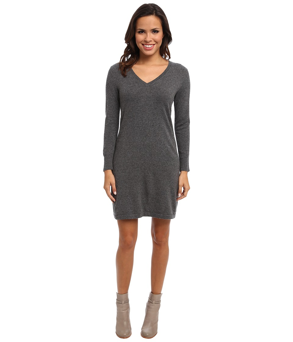 Christin Michaels - 100% Cashmere Brooke Shift Dress (Grey) Women's Dress