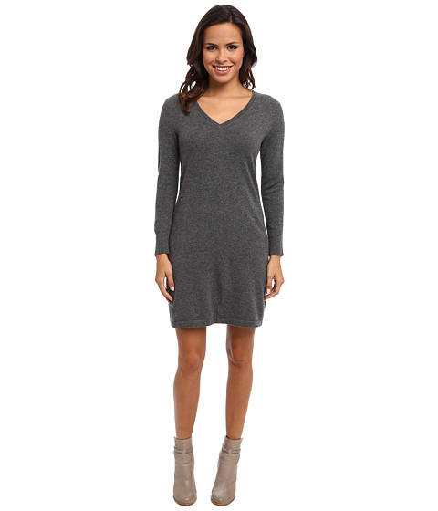 Christin Michaels - 100% Cashmere Brooke Shift Dress (Grey) Women