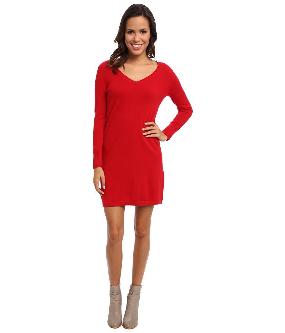 Christin Michaels - 100% Cashmere Brooke Shift Dress (Red) Women