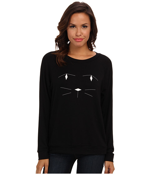 Townsen - Cat Fleece L/S Top (Black) Women