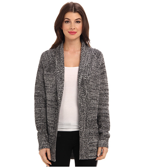 Townsen - Gemini L/S Cardigan Sweater (White & Black) Women's Sweater
