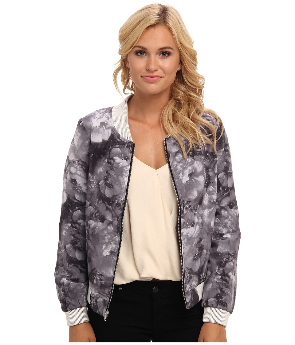 Townsen - Lady Bomber Jacket (Black & White) Women's Jacket