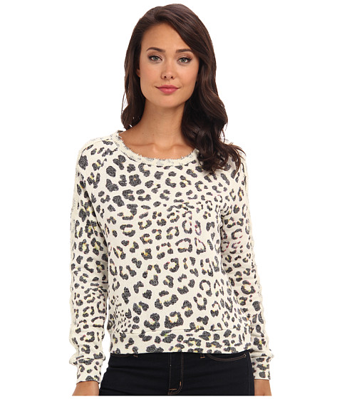 Townsen - Animal Fleece L/S Top (Leopard) Women