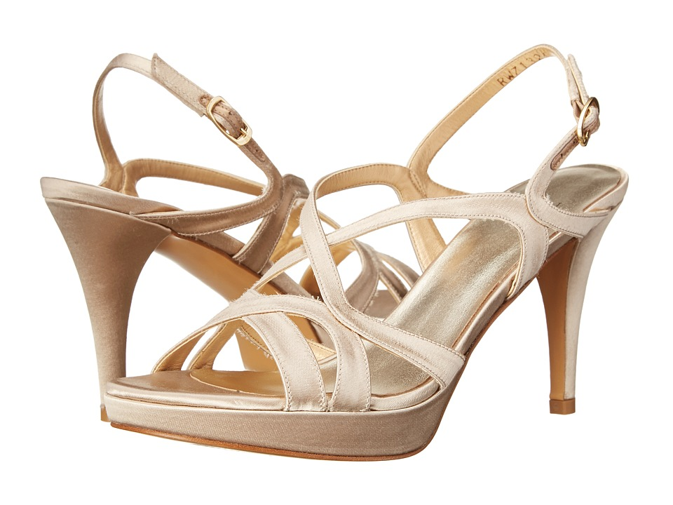 Stuart Weitzman Bridal & Evening Collection - Axis (Blonde Satin) High Heels