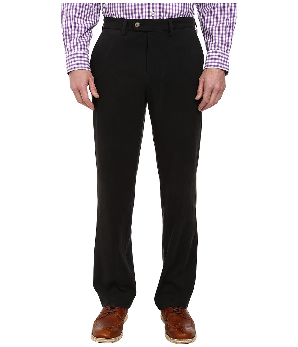 Tommy Bahama - Coastal Twill Flat Front Pant (Black) Men's Casual Pants